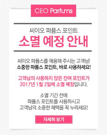 2017년 1월 2일, 씨이오 파퓸스 포인트가 소멸됩니다.